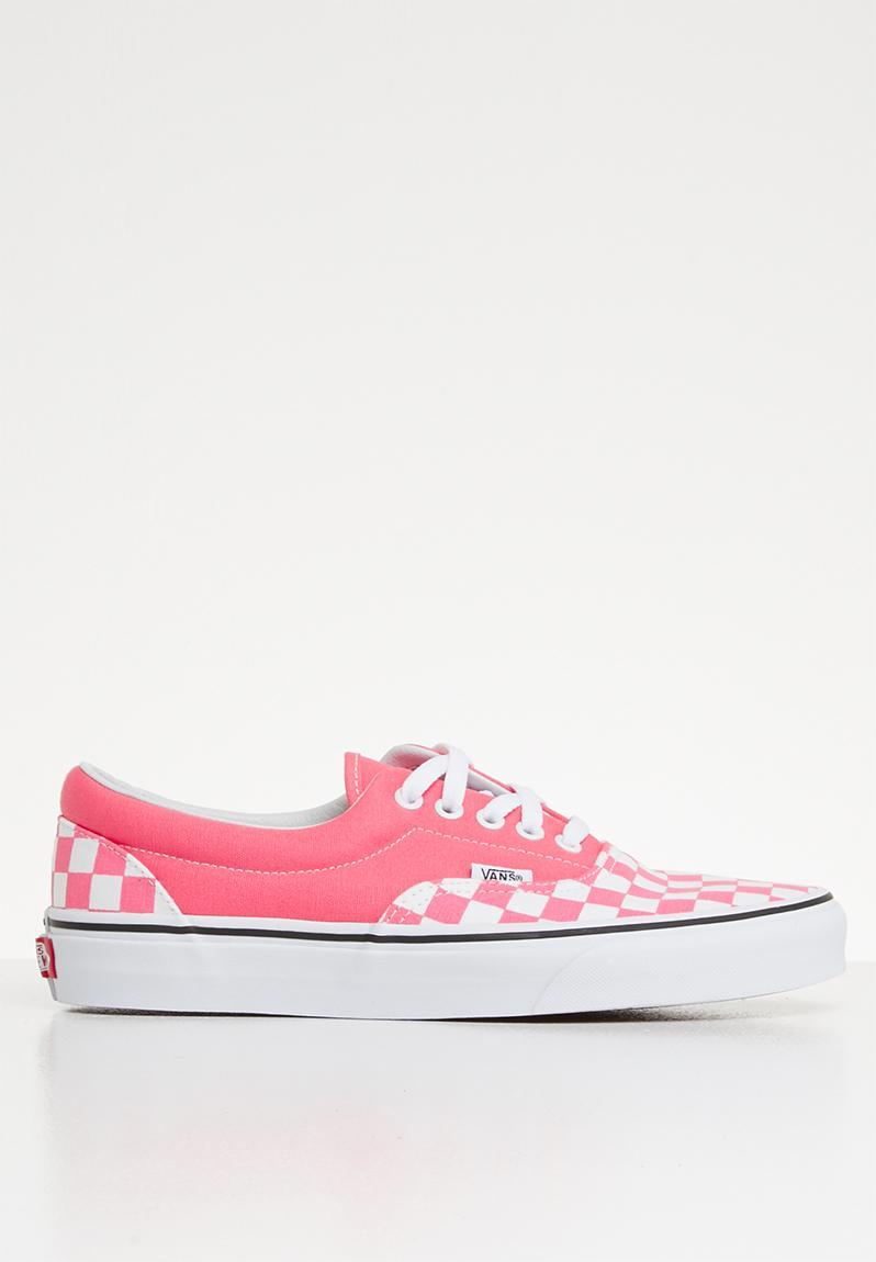 181491dfab Era - VA38FRVOX - (Checkerboard) strawberry pink true white Vans Sneakers