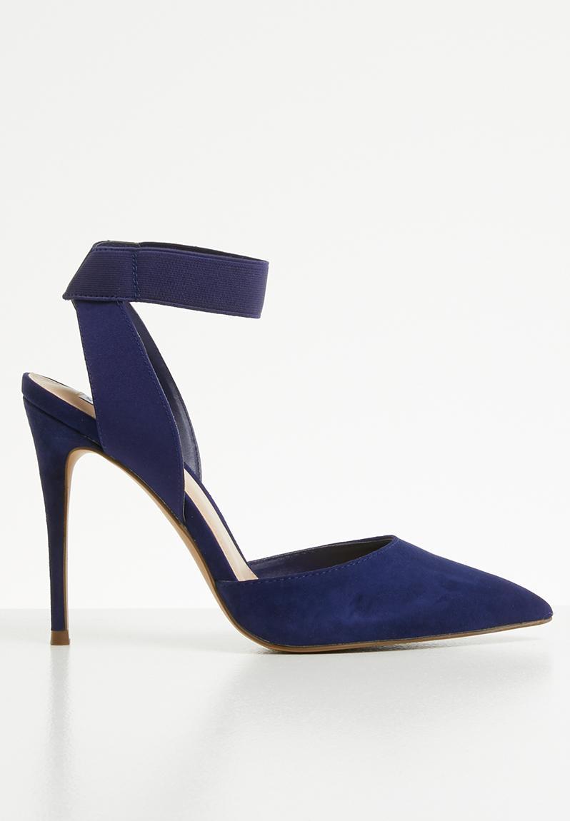 12f4b634044 Dion ankle strap pointed stiletto heel - navy Steve Madden Heels ...