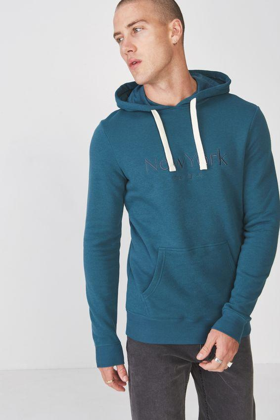 a0880bd51a Fleece pullover 2 - dark teal/new york translate Cotton On Hoodies & Sweats  | Superbalist.com