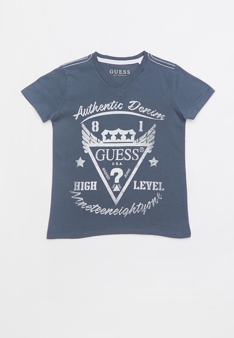 a216e817ce43 Kids short sleeve guess high level tee - grey GUESS Tops | Superbalist.com