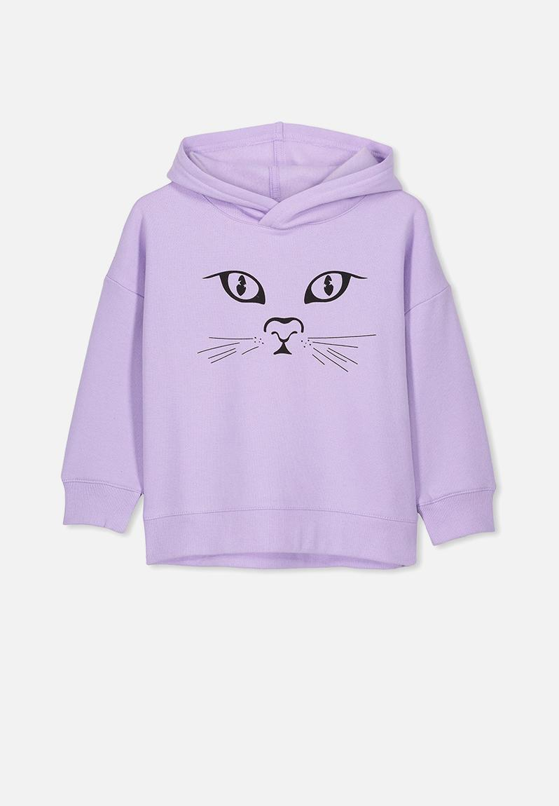 0e1d93aa2 Scarlett hoodie - baby lilac cat face Cotton On Jackets & Knitwear |  Superbalist.com