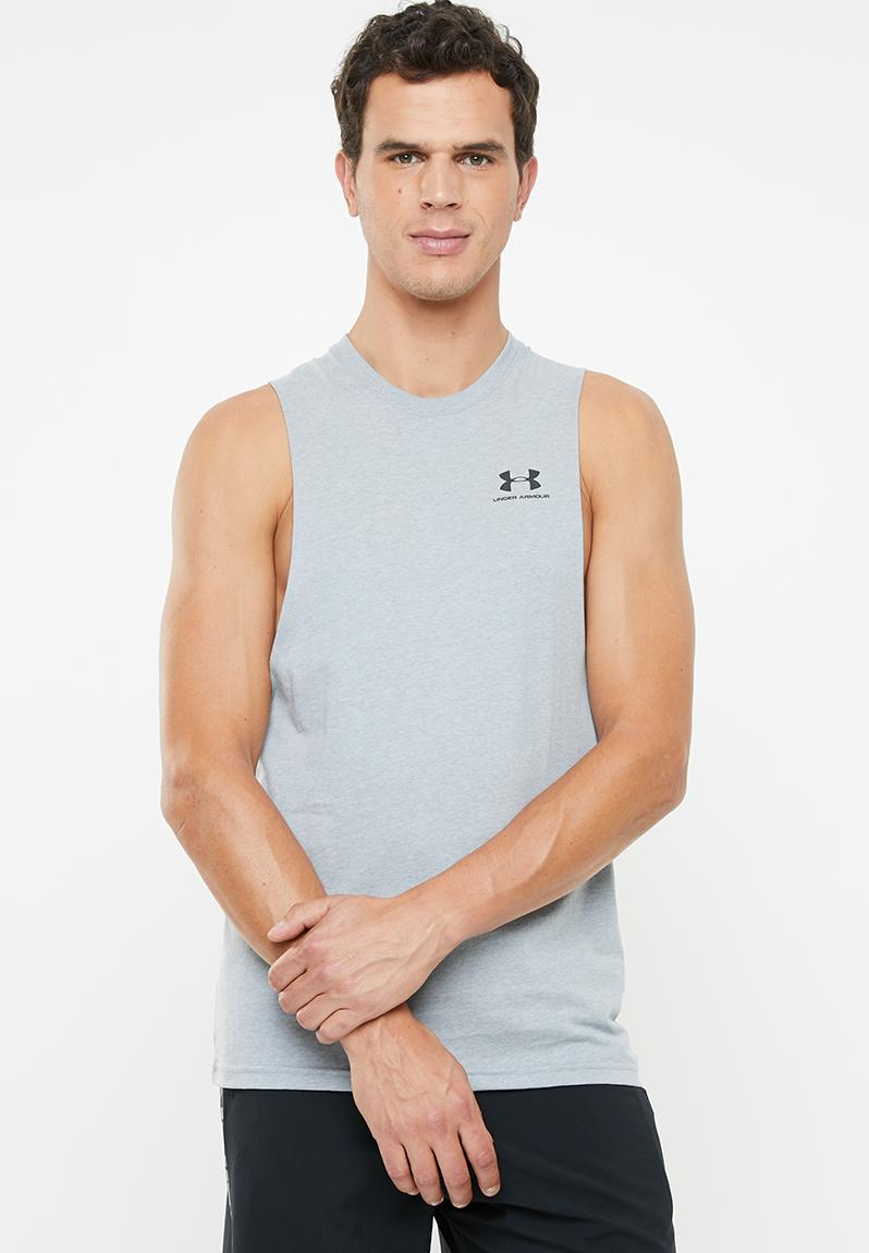 Under Armour Sportstyle Left Chest Cut-Off Tee Black////Black