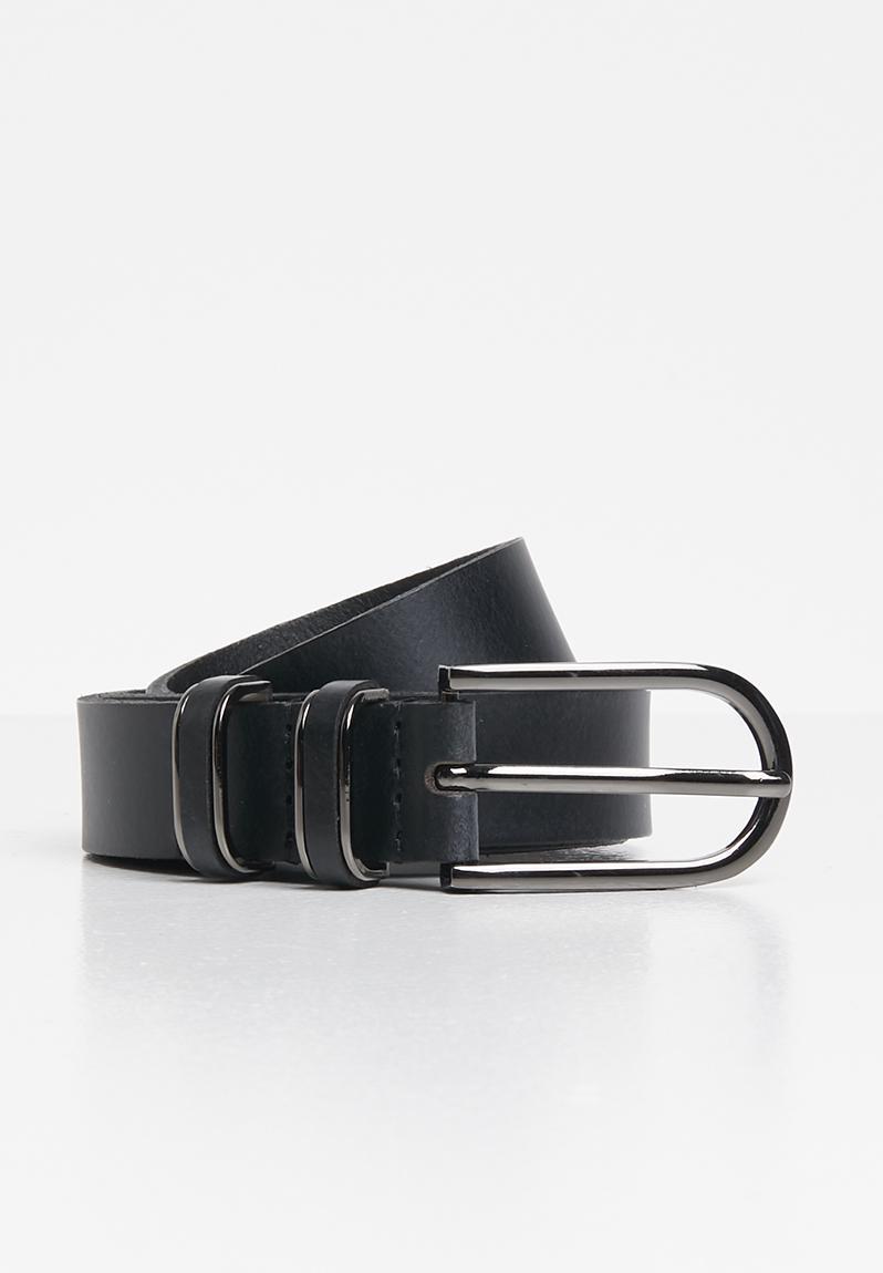 Madewell Medium Perfect Leather Belt - Pecan in Black - Lyst