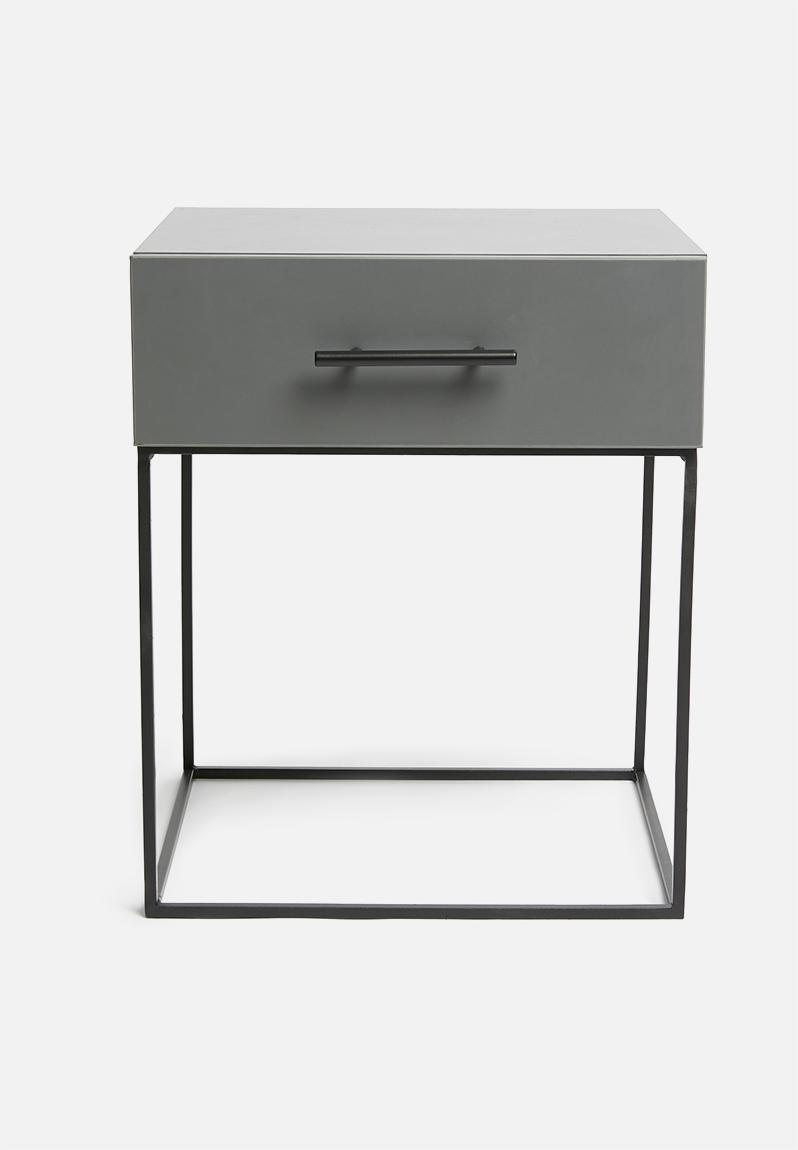 Grey Bedside Tables: Hudson 1 Drawer Bedside Table