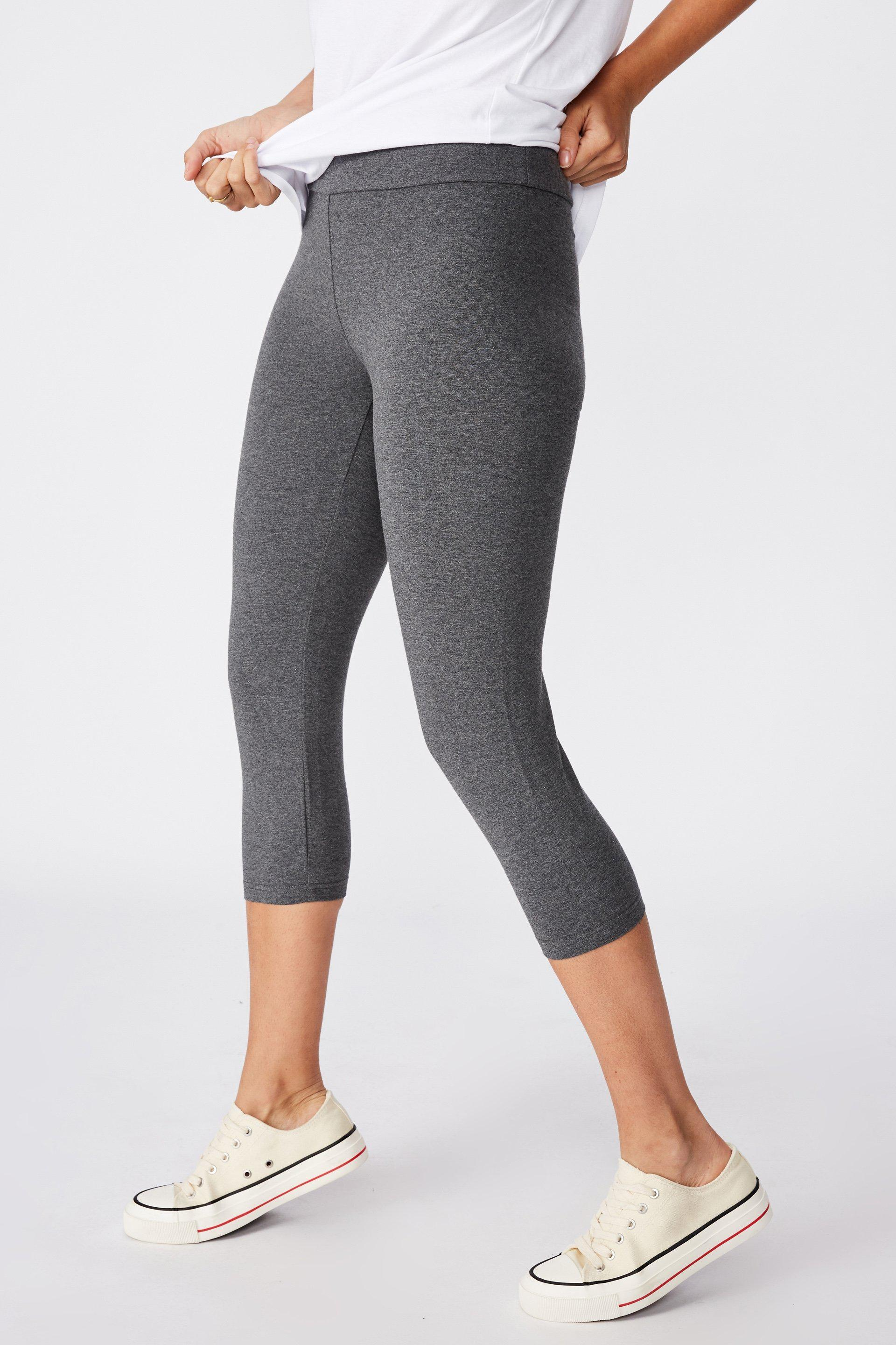 3 4 High Waisted Dylan Legging Charcoal Marle Cotton On Trousers Superbalist Com