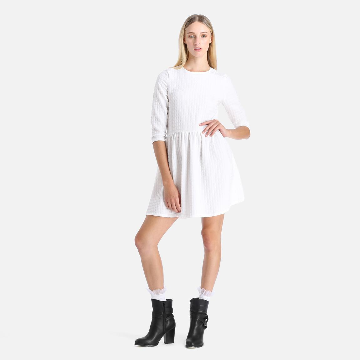 496cbf534e3c Ladies Skater Dress - White 1 Glamorous Casual