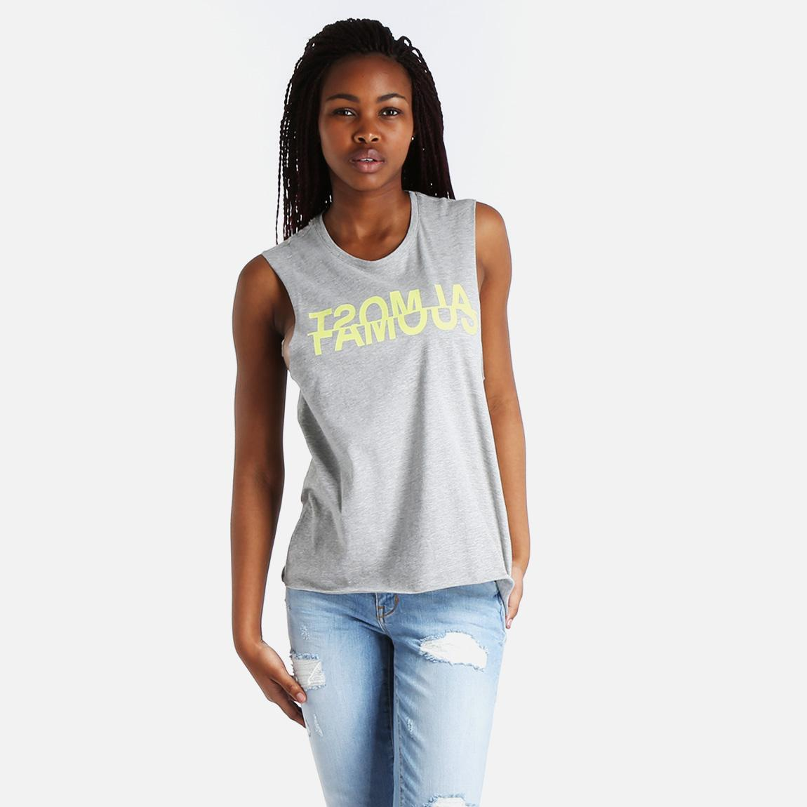 Dora Tank Top Light Grey Melange Vero Moda T Shirts