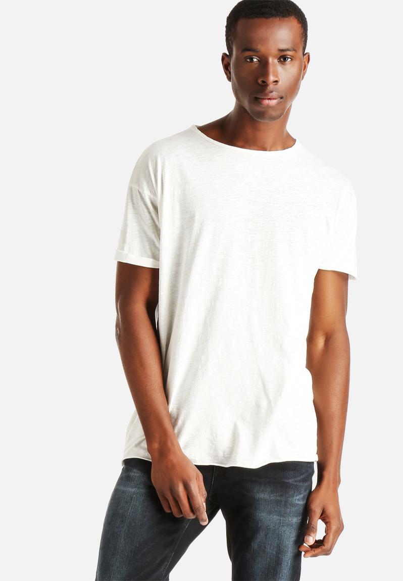 Raw hem t shirt slub white nudie t shirts for What is a slub shirt