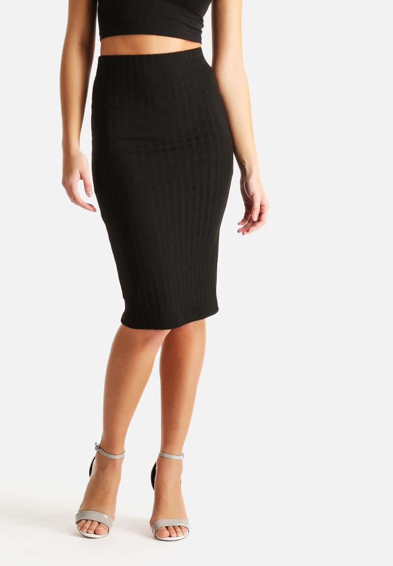 below knee skirt black noisy may skirts