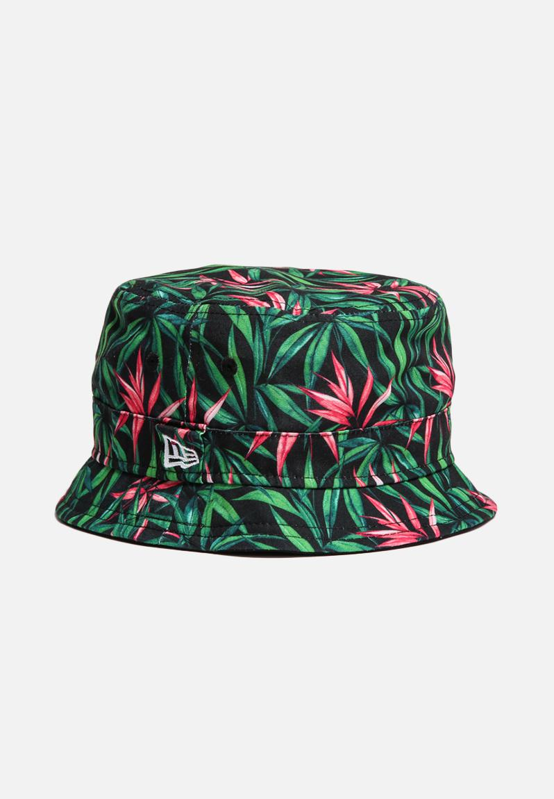 18ba6a7cca7 Bucket Hat - Tropical Vibe   Green   Pink   Black New Era Headwear ...
