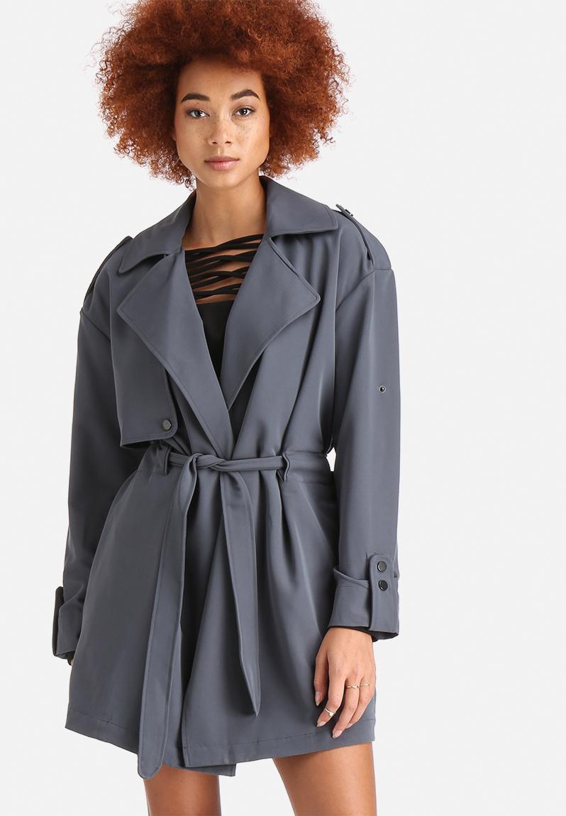 cobra 3 4 trenchcoat ombre blue vero moda coats. Black Bedroom Furniture Sets. Home Design Ideas