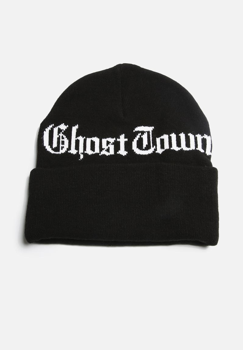 f88ab6148633d Ghost Town Beanie- Black Carhartt WIP Headwear