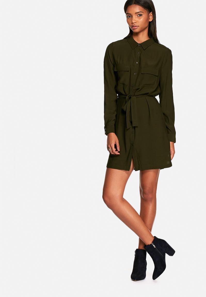 55219ff80fe Utility shirt dress - khaki Neon Rose Casual