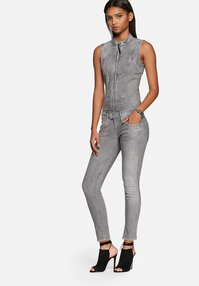 lynn zip slim sleeveless suit light aged g star raw jumpsuits playsuits. Black Bedroom Furniture Sets. Home Design Ideas