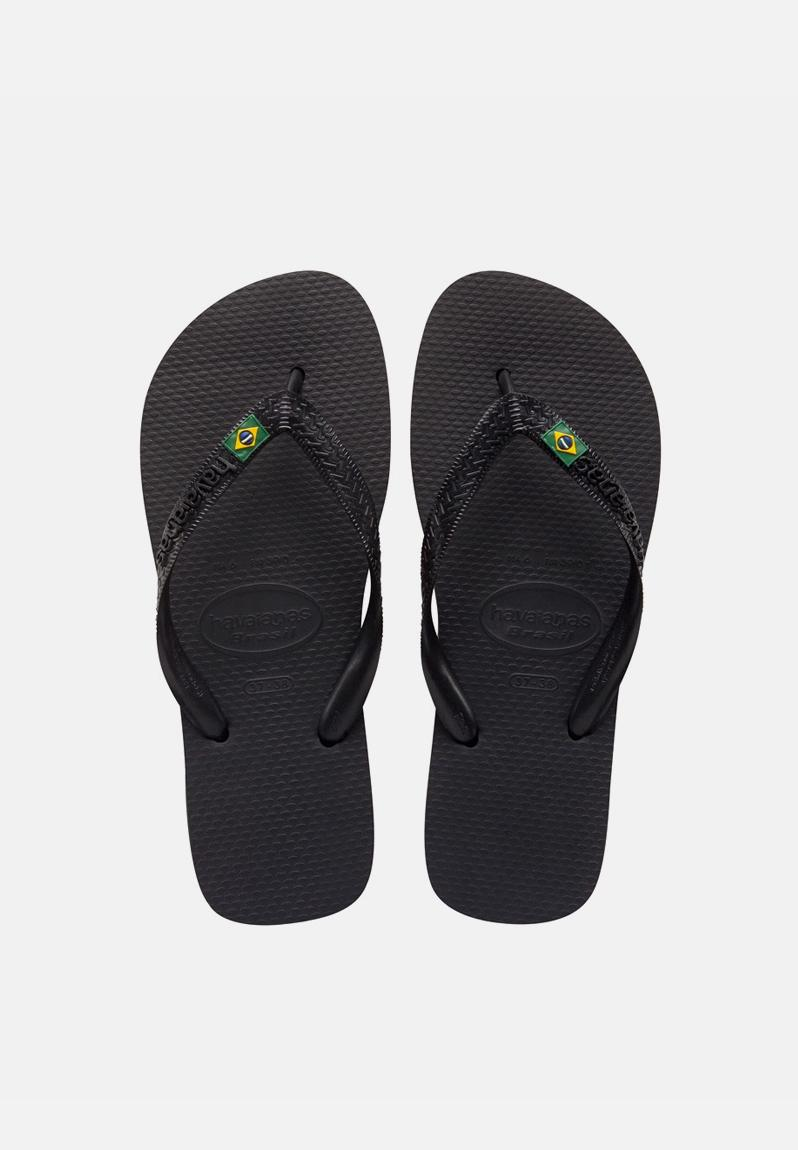 698acdbbb9fabf Brazil – Black Havaianas Sandals   Flip Flops