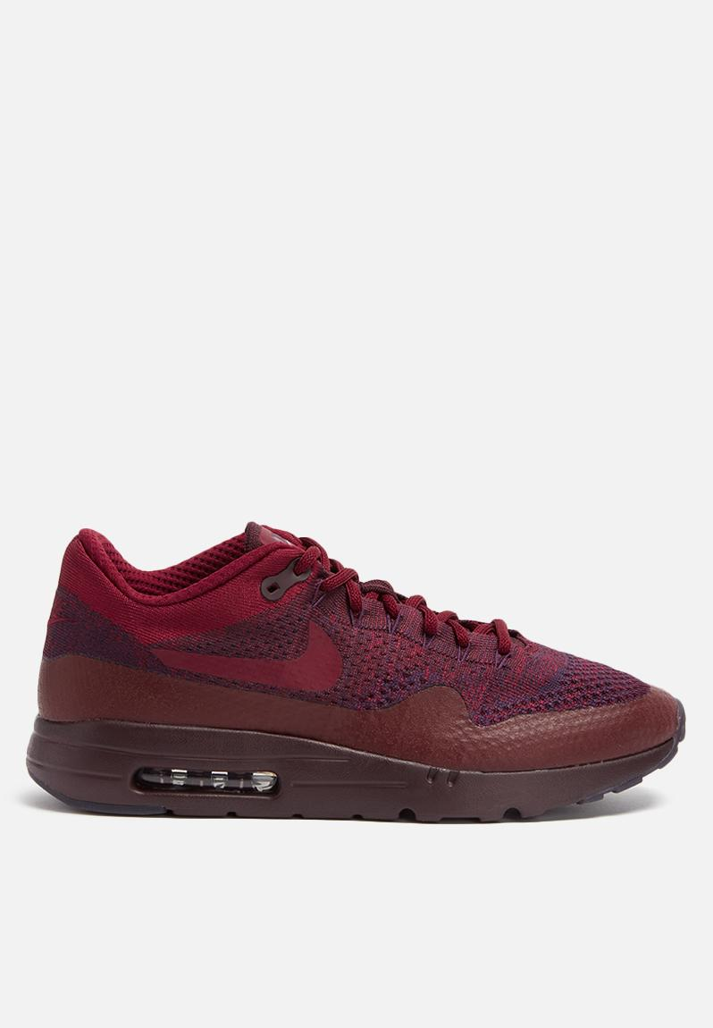 Nike Air Max 1 Ultra Flyknit Grand Purple Red Mens Running Shoes 856958 566 9