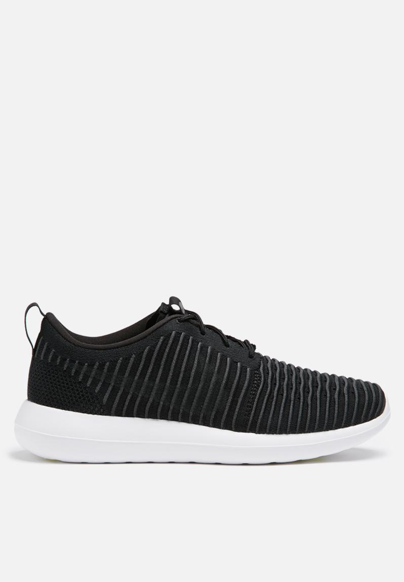 97e776c7cf165 Nike Roshe Two Flyknit - 844833-001 - Black   Dark Grey   Volt Nike Sneakers
