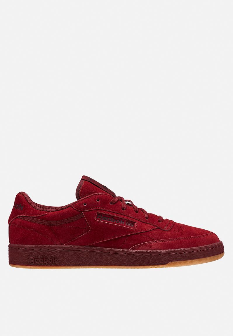 3eb4466e2da1d Reebok Club C 85 TG-Tonal Gum - BD1884 - Collegiate Burgundy Dark Red Gum  Reebok Classic Sneakers