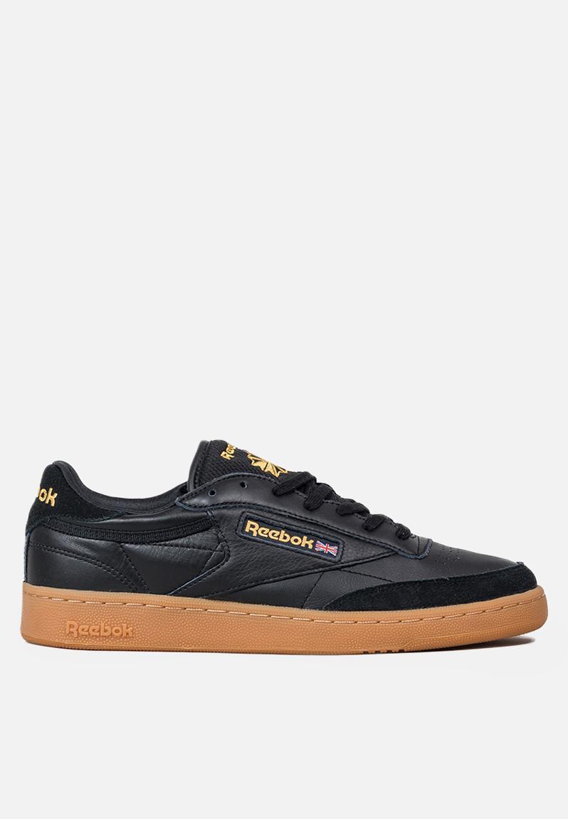 Reebok Club C 85 TDG-Indoor Pack - BD3068 - Black Retro Yellow Gum Reebok  Classic Sneakers  5a792eba6