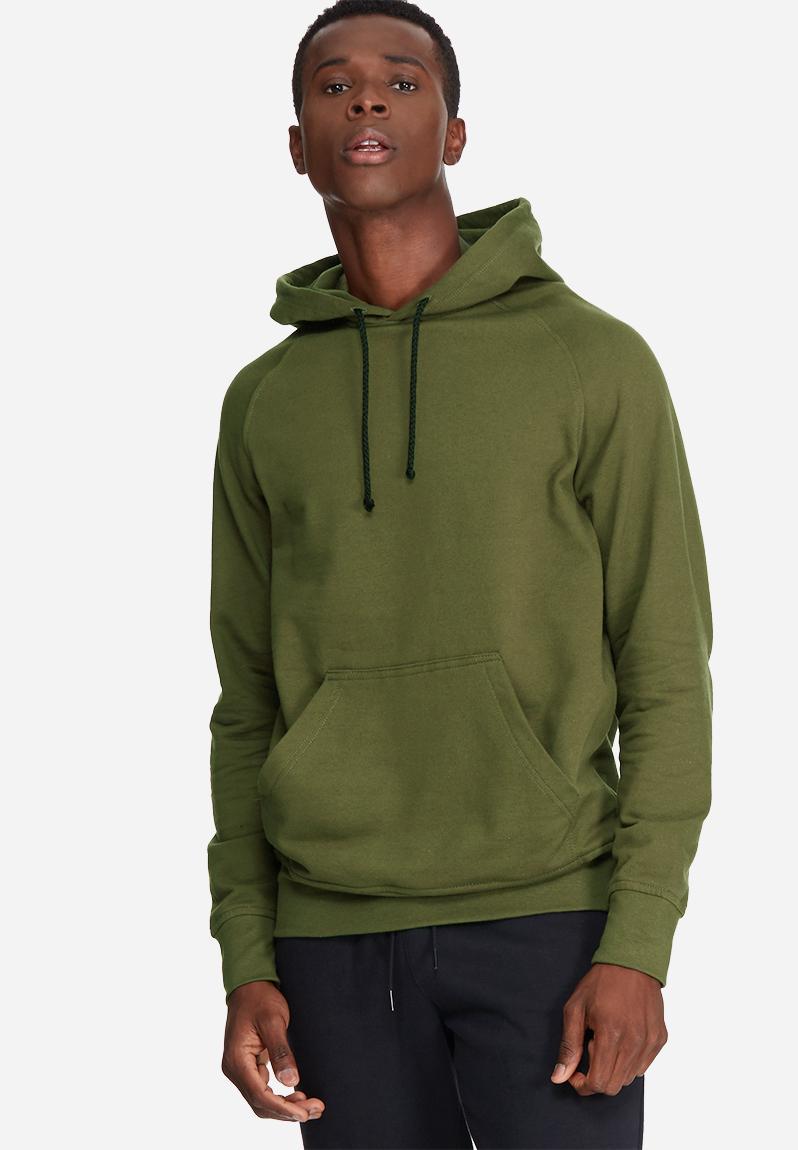 2cdf5f4f1 Basic pullover hoodie sweat- olive green basicthread Hoodies & Sweats |  Superbalist.com