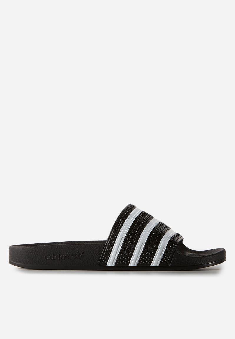 86aad9c5f Adilette - black white black adidas Originals Sandals   Flip Flops ...