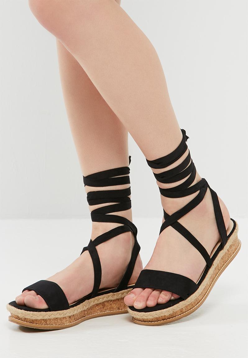 Cork Flatform Sandal Sb1001 Black Dailyfriday Sandals