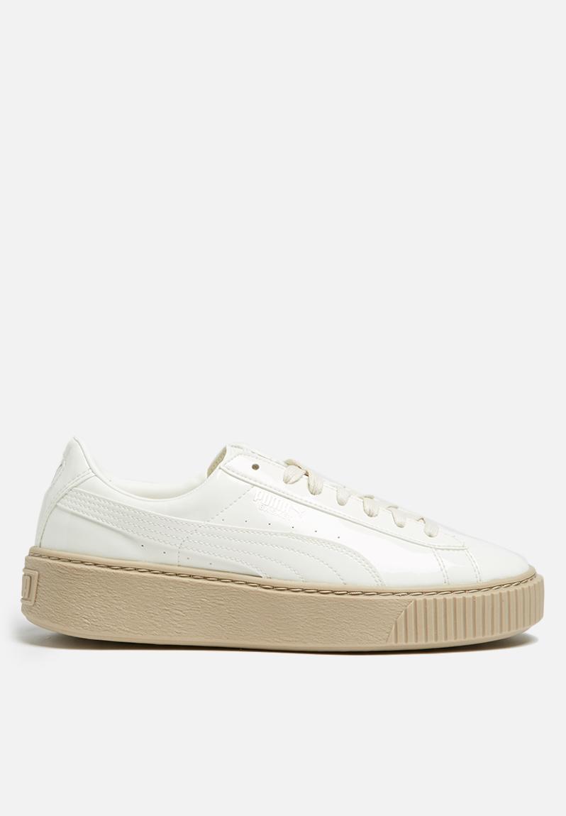 PUMA Basket Platform Patent Wn s - 363314 05 - Marshmalllow PUMA Sneakers  d2f72a752