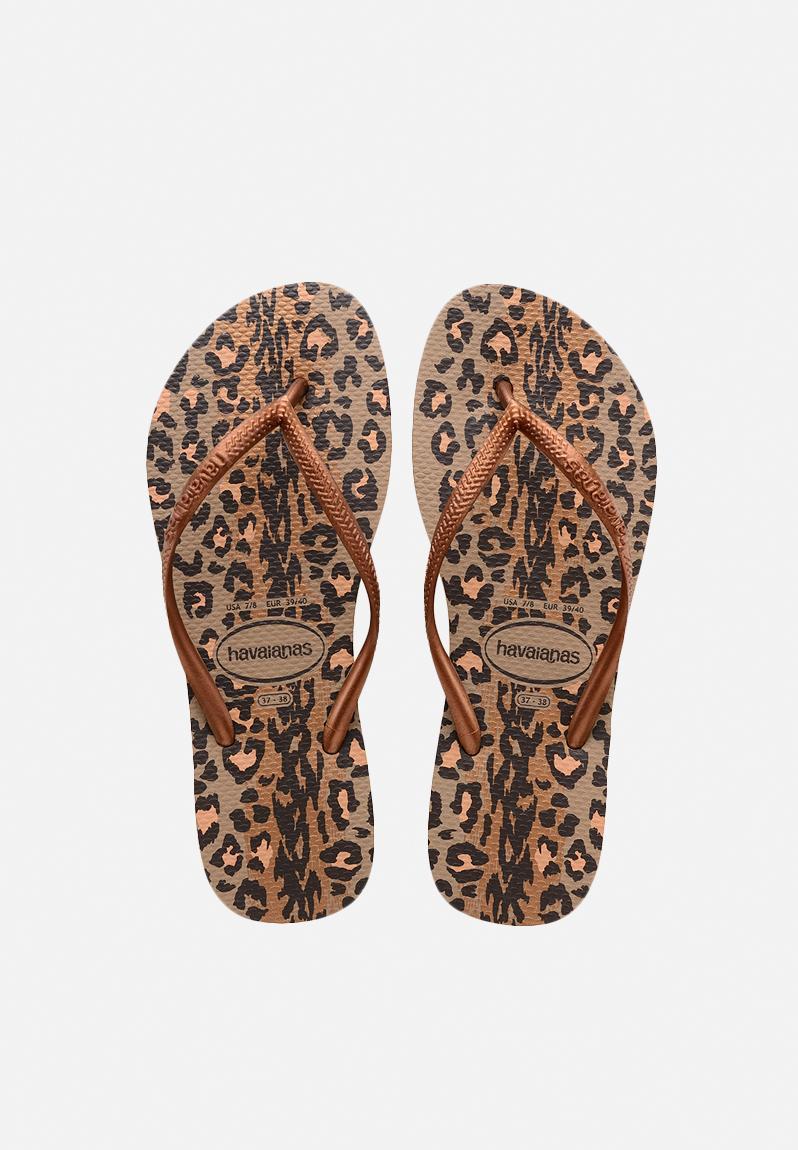 1e3af2eb7a4cc3 Slim animals - Rose Gold Dark Copper Havaianas Sandals   Flip Flops ...