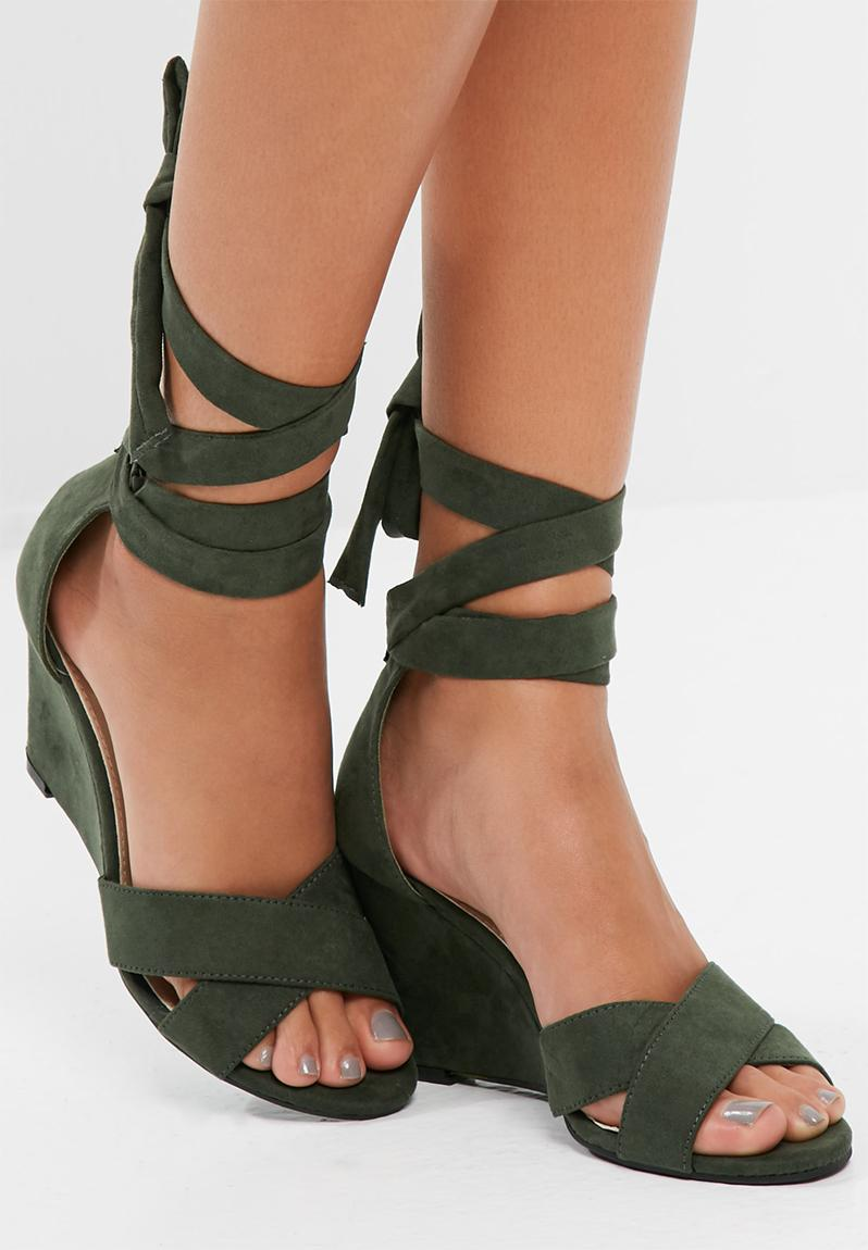 Contour barely there heel - black Public Desire Heels