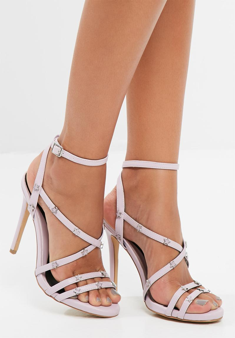 e4cd3975c8f5 Star studded strappy heeled sandals lilac missguided heels jpg 798x1150 Lilac  strappy heels