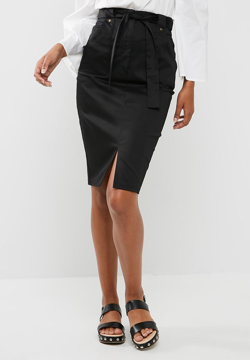 2c55aedde Pencil skirt with belt - black dailyfriday Skirts | Superbalist.com