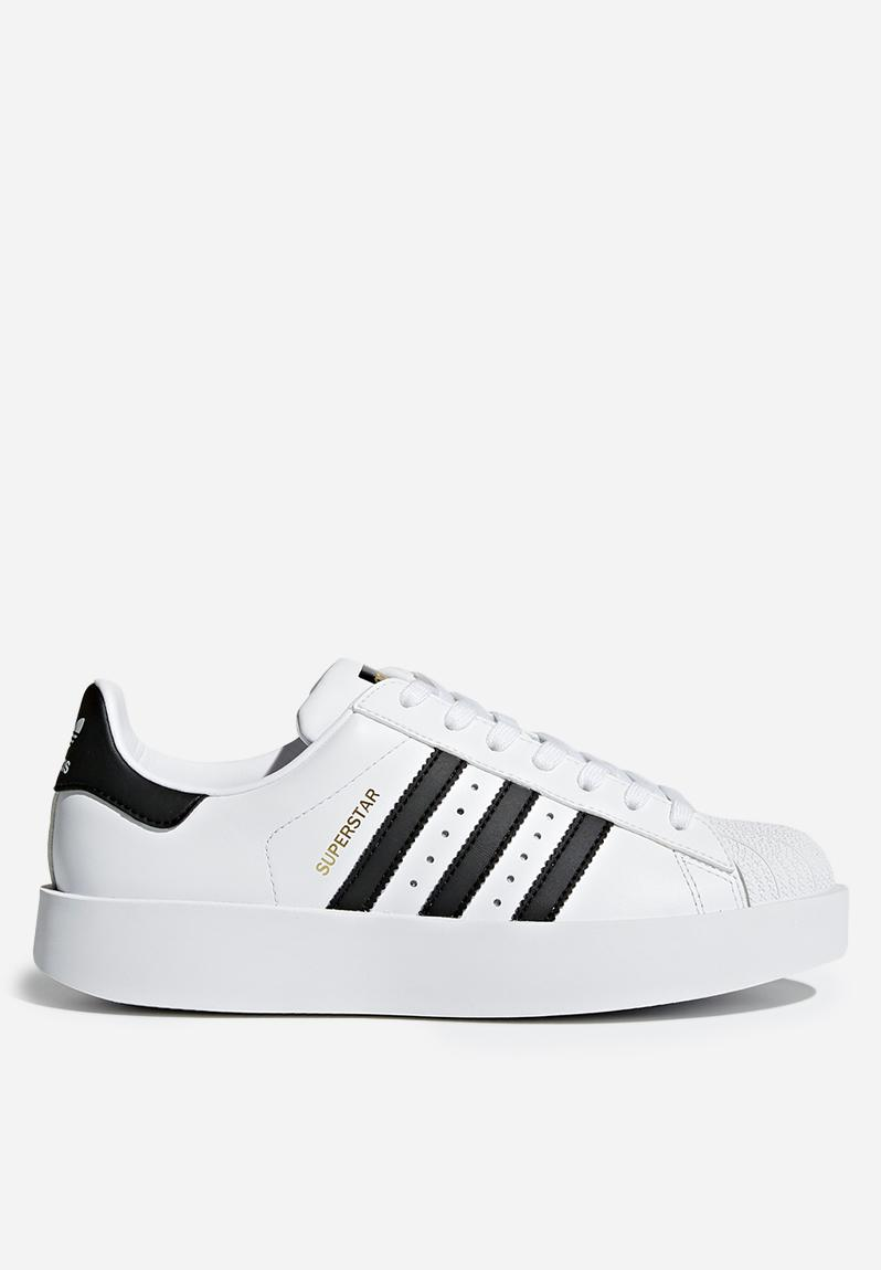 fd0cef7a55c Superstar bold W - White Black Gold adidas Originals Sneakers ...