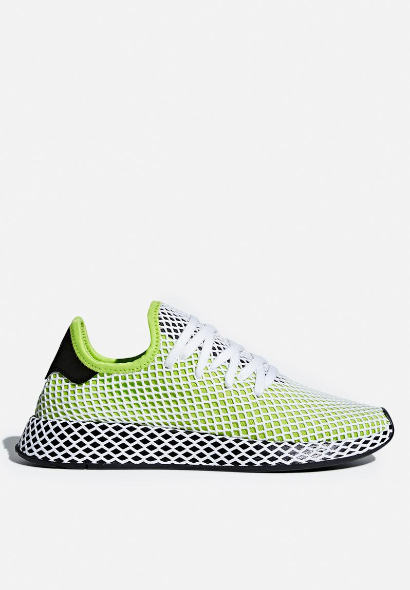 fb1764f4e adidas Deerupt Runner - B27779 - Solar Slime   Core Black adidas Originals  Sneakers