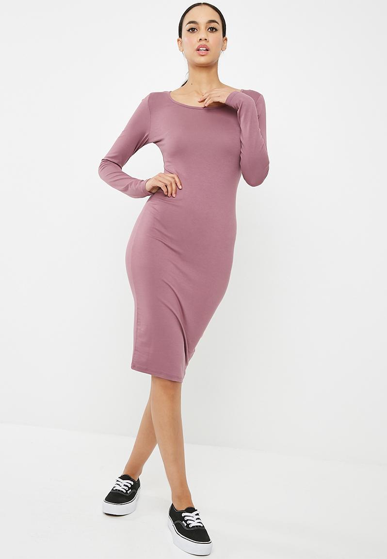 f3198bb4e0ec Long sleeve bodycon dress - purple Missguided Casual