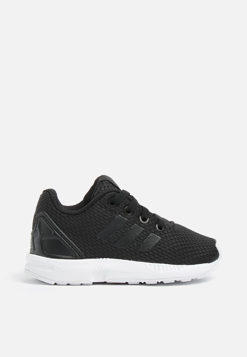 bcd38a001 Infants ZX Flux I - black white adidas Originals Shoes