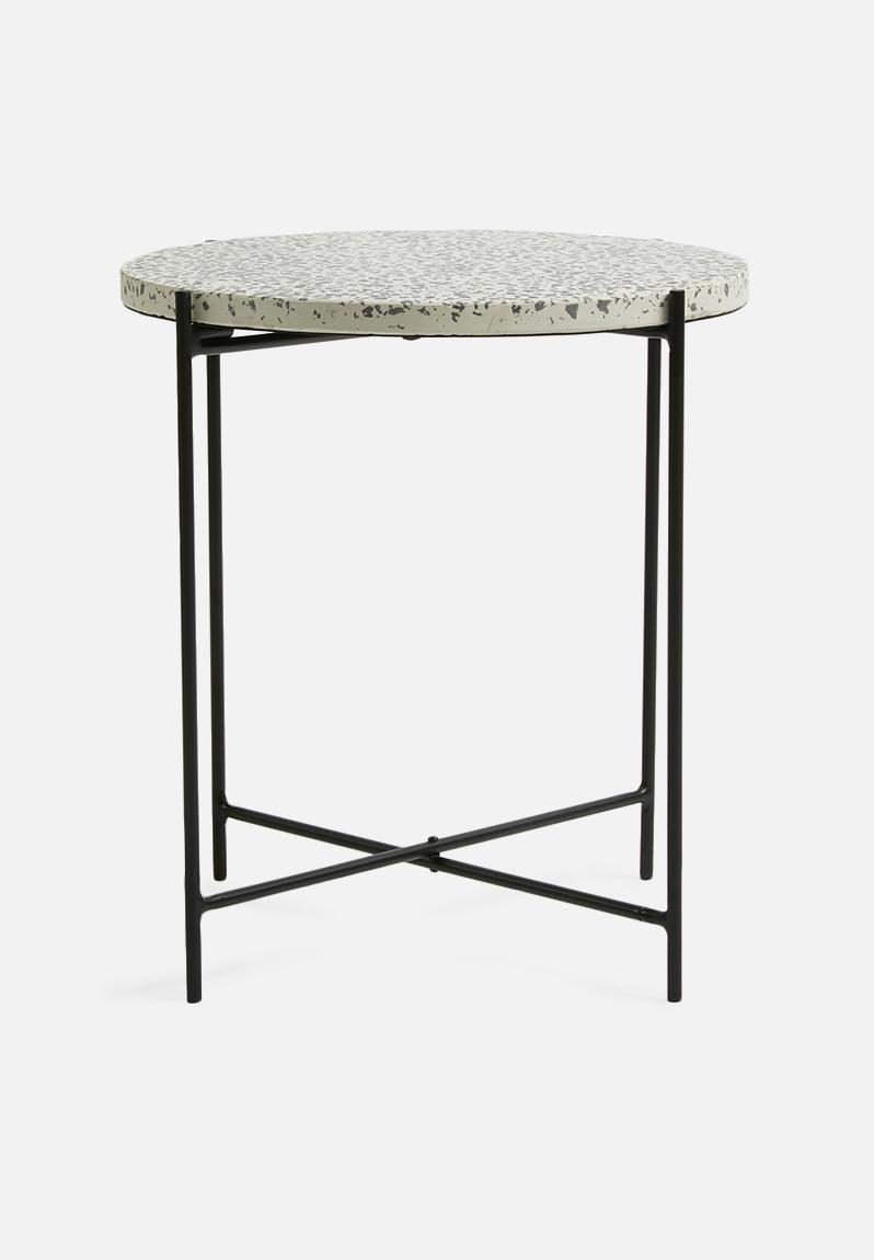 Terrazzo Side Table Black Present Time Coffee Amp Side