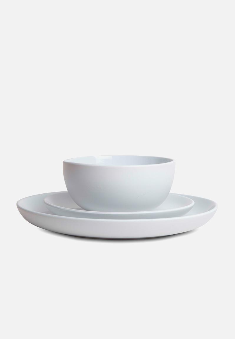 12 Piece Dinnerware Set White Humble