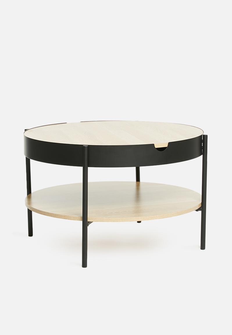 Tipton tray coffee table - black Sixth Floor Coffee & Side ...