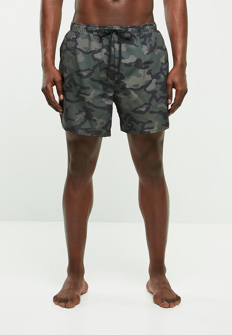 4eb367eb60 Camo swimshorts - dark khaki New Look Swimwear | Superbalist.com