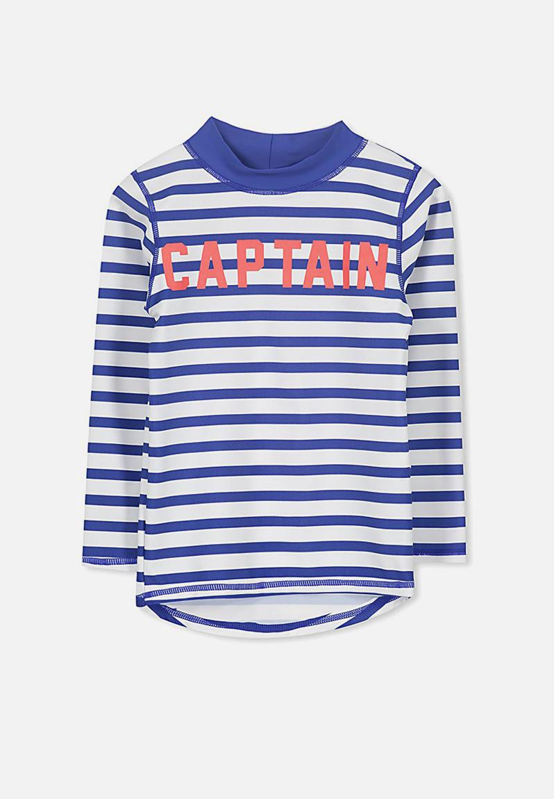 a49173610 Fraser long sleeve rash vest - vanilla scuba blue Cotton On Swimwear    Superbalist.com