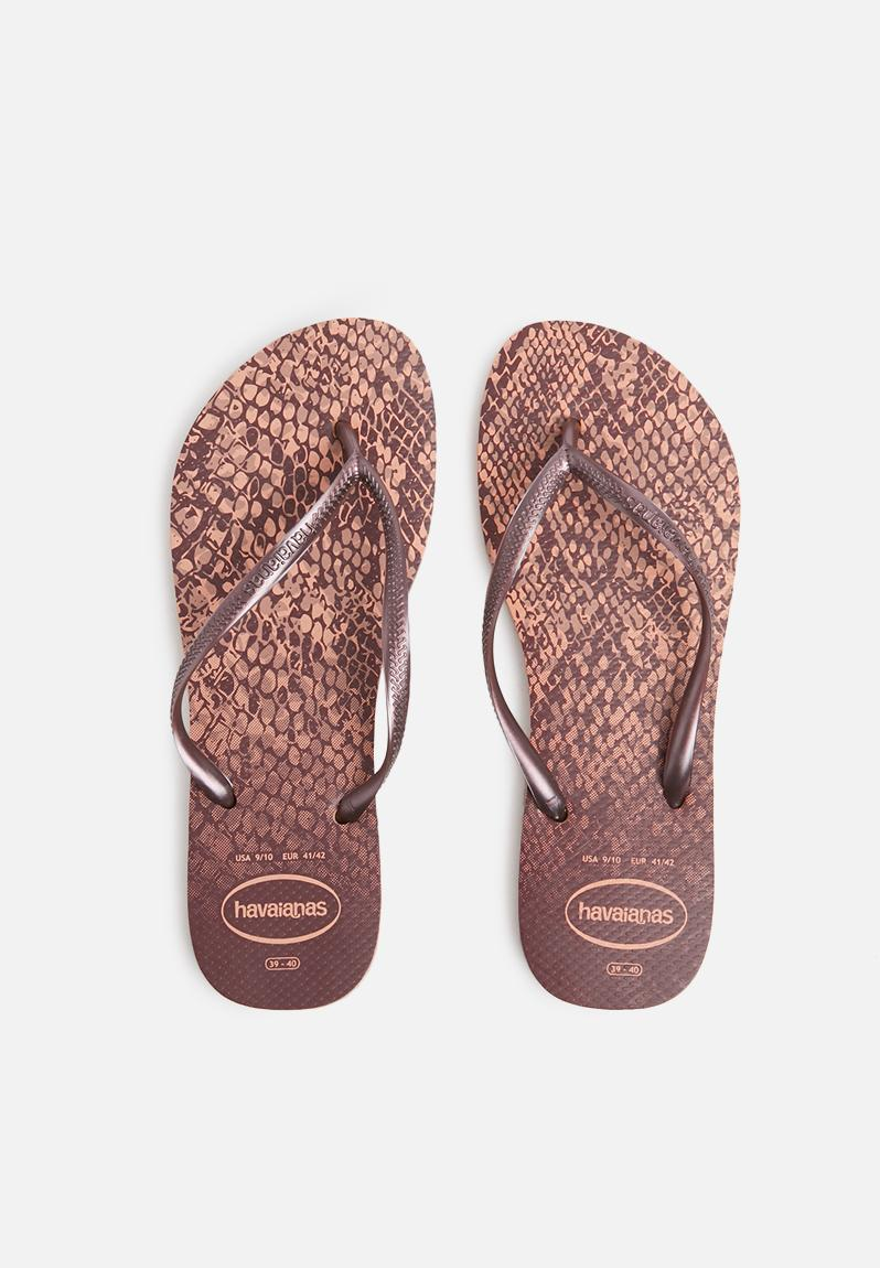 1c1edc25f1e056 Slim animals - crocus rose Havaianas Sandals   Flip Flops ...