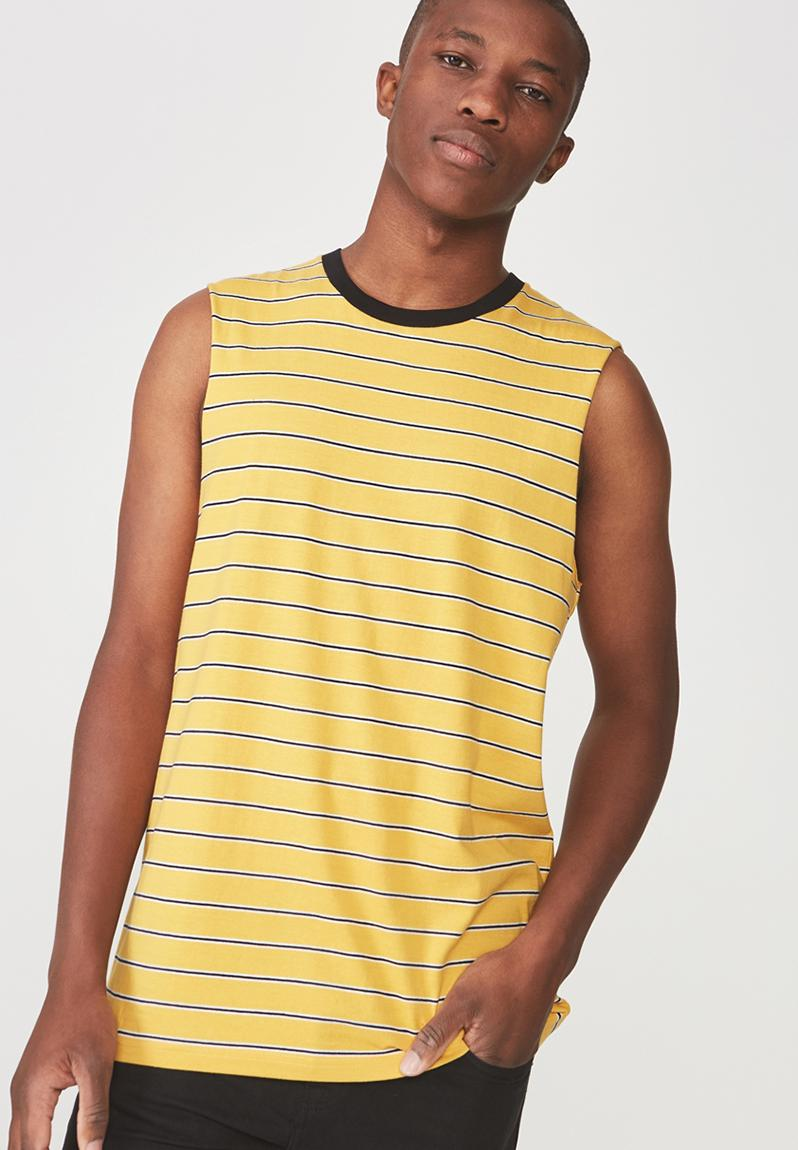 2aea468e Tbar muscle tee - golden rod/black/white space Cotton On T-Shirts & Vests |  Superbalist.com