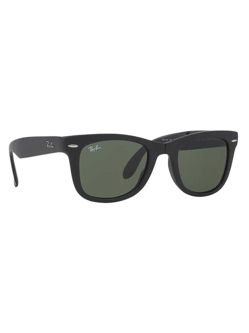 e364c72f6c Wayfarer Folding Sunglasses Black Ray-Ban Eyewear
