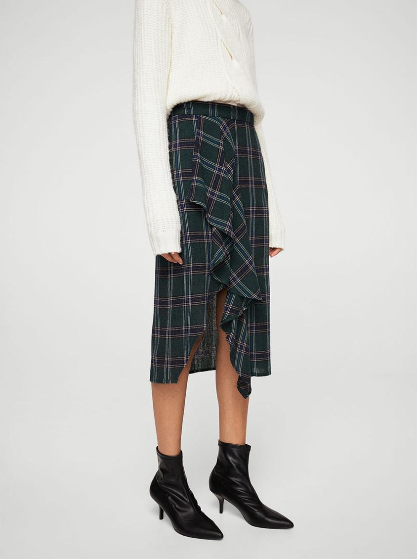 41af4549b Dark Green Plaid Skirt