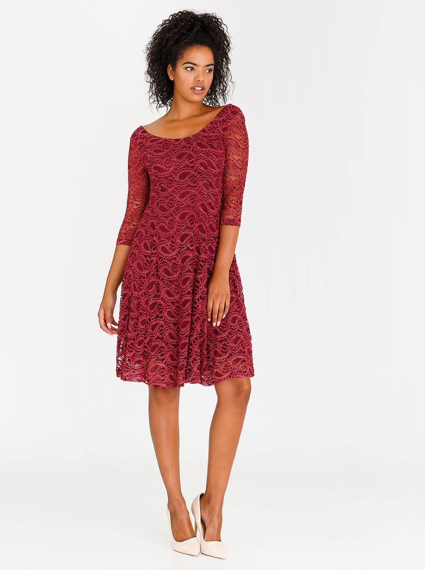 6ac57ae4436f1 Fit and Flare Lace Dress Burgundy Revenge Formal | Superbalist.com