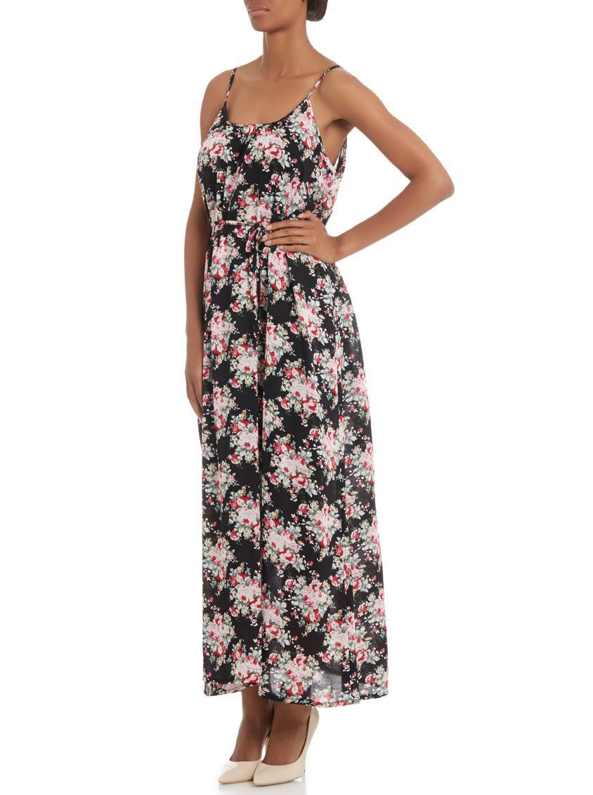 01a4107c26d Casual Black Floral Maxi Dress - Data Dynamic AG