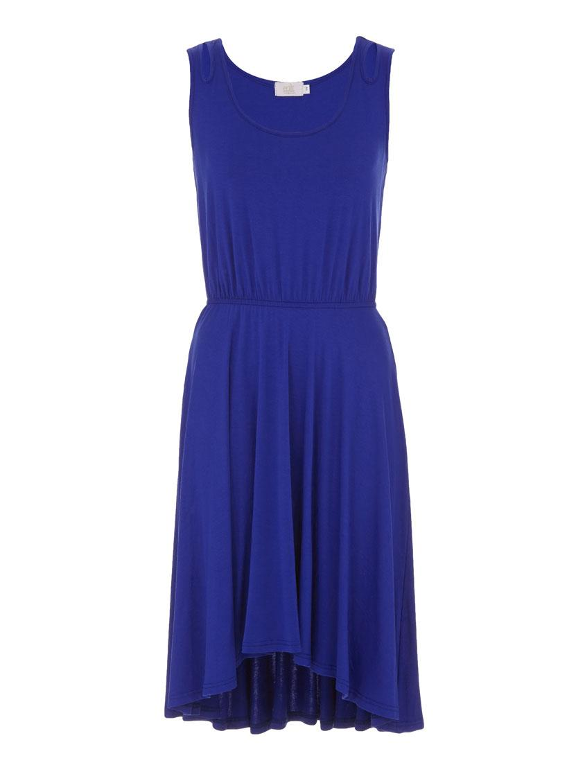 Cobalt High Low Dress