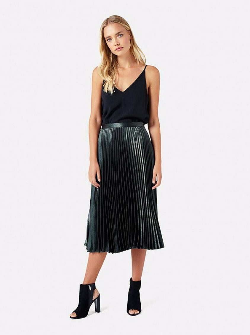 3d26cb932c14 Harriet Pleated Midi Skirt Dark Green Forever New Skirts | Superbalist.com