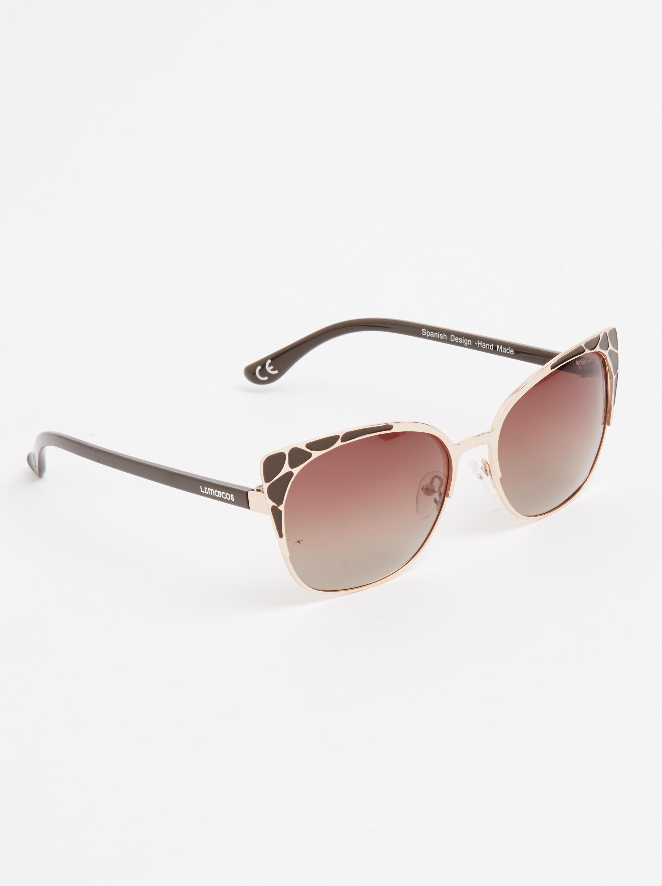 ac1fd93bc5 Buenos Aires Polarized Cat-eye Sunglasses Black Lentes   Marcos Eyewear