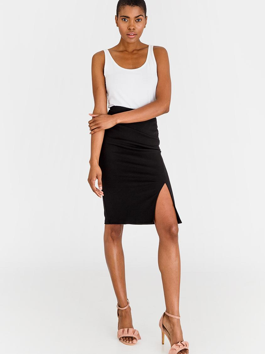 high waisted pencil skirt black edit skirts superbalistcom